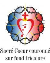 MARIE FRANCOISE Polo blanc pour femme manches courtes avec marquage du Sacré Coeur de la Miséricorde Divine