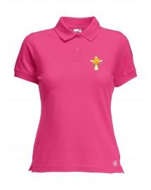 FOY Polo femme catholique manche courtes avec Croix de l'Esprit Saint