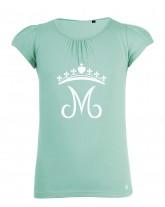HILDEGARDE Tee-shirt catholique fille et couronne mariale fleurdelisée