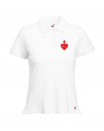 ANNE Polo féminin catholique avec sacré cœur de la sainte famille