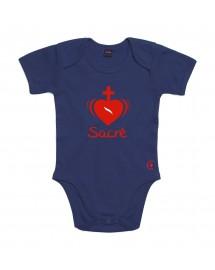 ELOI Body catholique manches courtes pour bébé avec Sacré Coeur