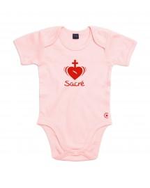 INES Le Body catholique pour les petites filles aux couleurs du Sacré Cœur de Jésus