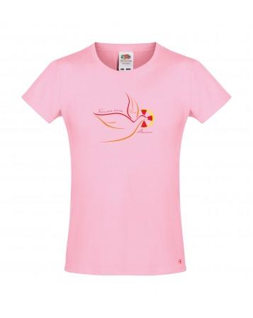 LAURA Tee shirt catholique pour fille avec la colombe de l'Esprit Saint