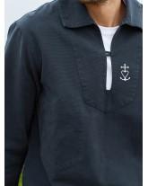 FREDERIC Vareuse catholique pour homme avec une jolie croix de méditerranée brodée