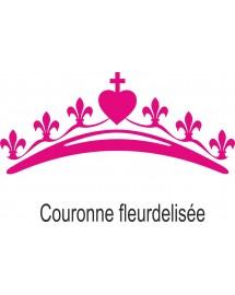 AGATHE Body pour les petites filles avec une jolie couronne mariale fleurdelisée