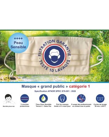 Masques TPremium Grand public réutilisable Catégorie 1