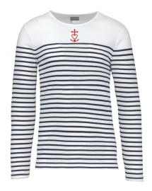 HERVE marinière catholique homme brodée avec Croix de Méditerranée