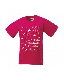 BERNADETTE Tee-shirt PYJAMA fille drôle et spirituel avant d'aller dormir