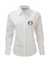 OMBELINE Chemise femme blanc avec le Sacré Coeur couronné tricolore
