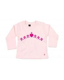 AURORE Tee-shirt catholique bébé fille authentique couronne mariale