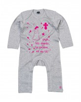 """JULIENNE Pyjama barboteuse pour bébé """"avant d'aller dormir"""""""