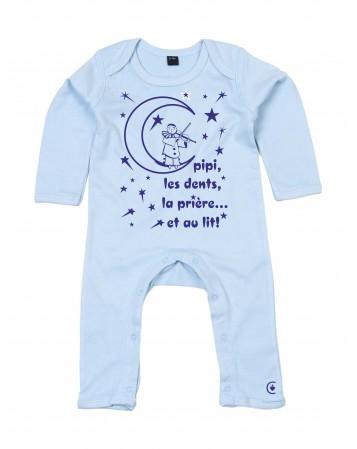 """THEODORE Pyjama barboteuse pour bébé """"avant d'aller dormir"""""""