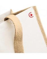 FELICITE Grand sac de courses coton canvas avec le sacré cœur de Jésus
