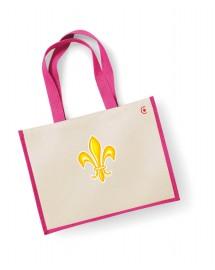 PERPETUE Grand sac de courses catholique avec grande fleur de lys