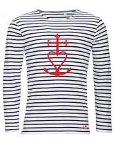 YVES Tee-shirt marinière catholique ML homme croix de méditerranée