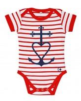 ARMEL Tee-shirt marinière catholique bébé croix de méditerranée