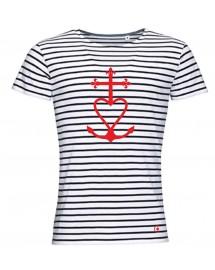 MALO Tee-shirt marinière catholique homme croix de méditerranée