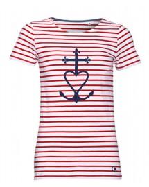 GWENAELLE Tee-shirt marinière catholique femme croix de méditerranée
