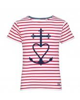 TANGUY Tee-shirt marinière catholique enfant croix de méditerranée