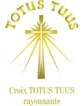 JERZY Parka noire catholique pour prêtre avec Croix Totus Tuus